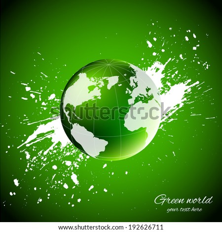 Green world. Ecology concept - stock vector
