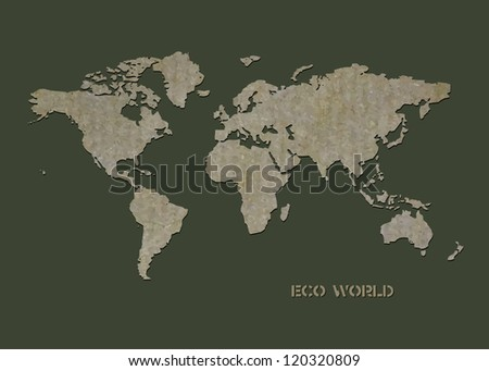 World map markers stock vector 267355061 shutterstock green world map eps 8 gumiabroncs Choice Image