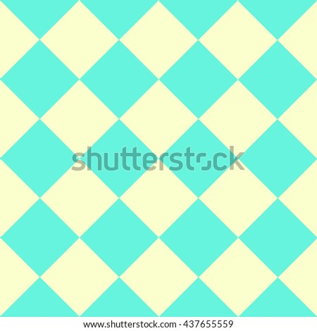 Green Yellow Chess Board Diamond Background Vector Illustration