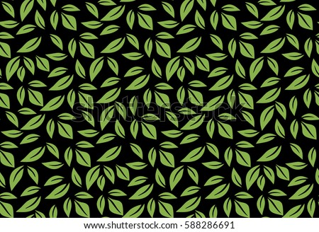Greenery Leaf Seamless Pattern Wallpaper Vector Illustration Spring Color 2017 Eco Wrapping Paper Design