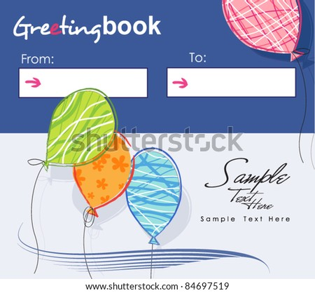 Greeting book  - Creative Greeting Card! - stock vector