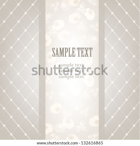 Greeting card. Abstract floral background or invitation. Wedding card . - stock vector