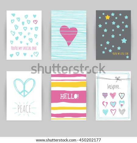 Greeting card birthday invitation card confetti stock vector hd greeting card birthday invitation card confetti heart star peace stopboris Choice Image