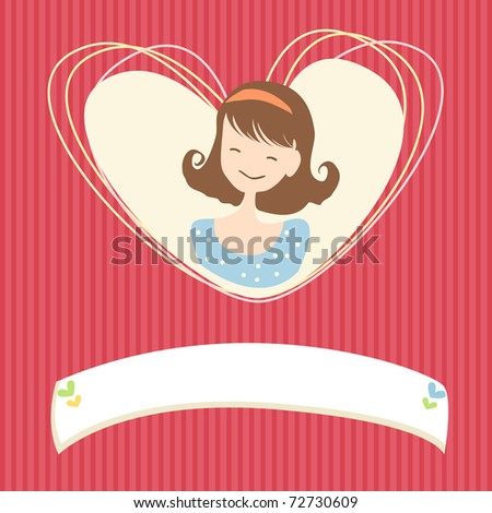 Greeting card design - stock vector