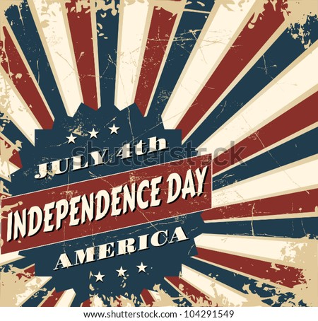 Greeting card design for Independence Day. - stock vector