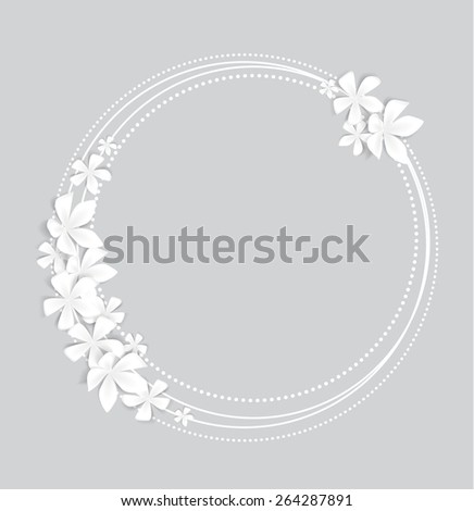 Greeting card floral with place for text  - stock vector