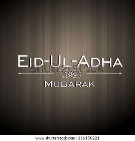 Greeting card for Eid Ul Azha background. EPS 10. - stock vector