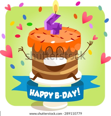 Greeting Card Happy Birthday Jolly Good Stock Vector 289110785
