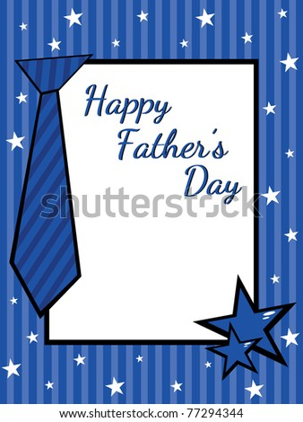 greeting card for happy father's day celebration - stock vector