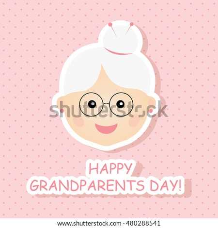 Greeting card happy grandparents day vector stock vector 480288541 greeting card for happy grandparents day vector illustration m4hsunfo