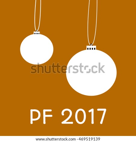 Greeting card for happy new year with inscription pf 2017 - pour feliciter, which means congratulations.