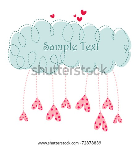 Greeting card for love - stock vector