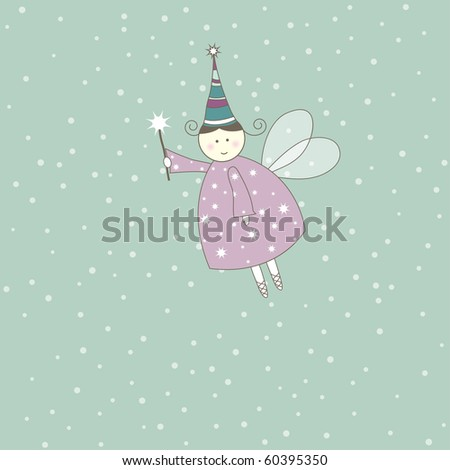 Greeting card for your life events,bright childish card. Vector illustration - stock vector