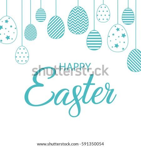 greeting card happy easter vector illustration stock vector rh shutterstock com easter vector art free easter vector art