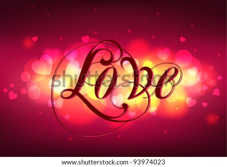 Greeting Card LOVE - stock vector