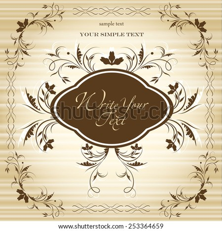 Greeting card or invitation with vintage background. Vector greeting card. Wedding card . - stock vector
