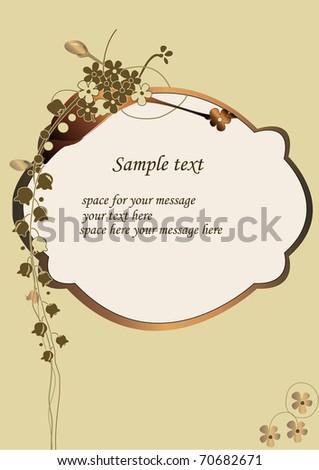 greeting card vector illustration - stock vector