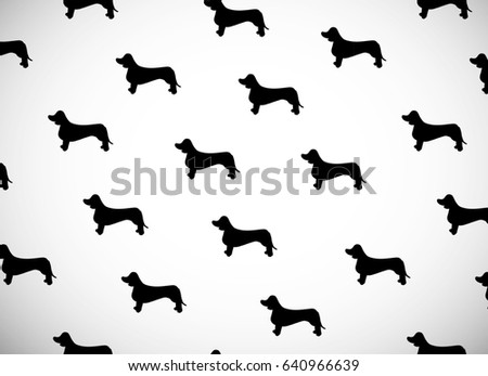 dachshund silhouette stock images, royalty-free images & vectors