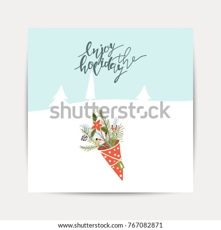 Enjoy the holidays greeting gallery greeting card designs simple original enjoy holiday brush hand lettering stock illustration greeting card christmas toys enjoy holiday stock vector 767082871 happy holiday wishes m4hsunfo