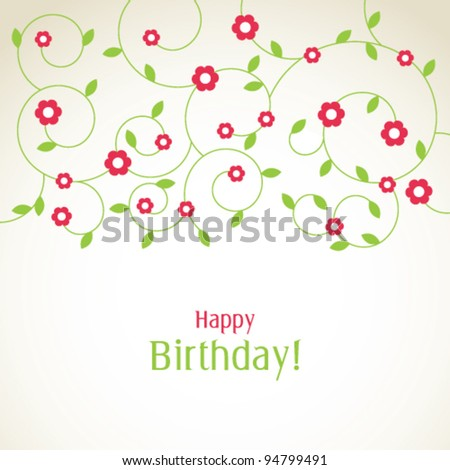 Greeting card with copy space - stock vector