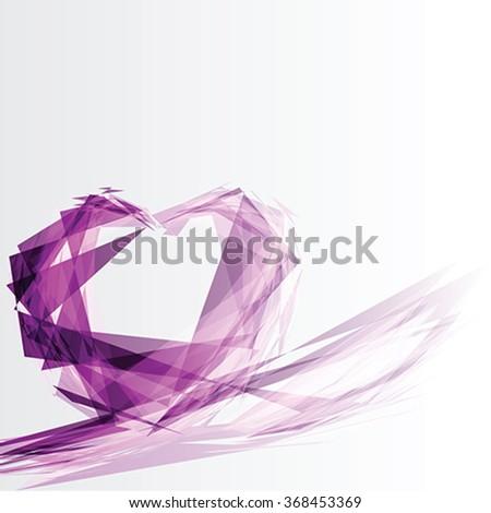 Greeting card with diamond Heart, vector - stock vector