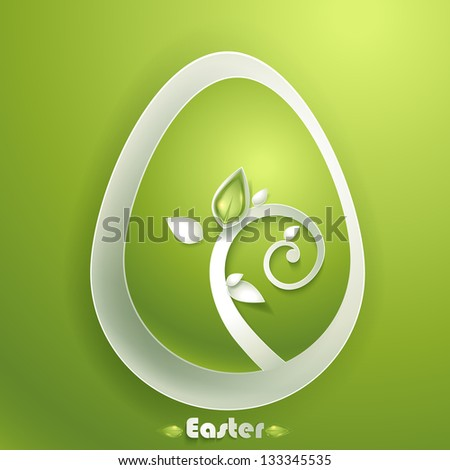 Greeting card with Easter egg - stock vector