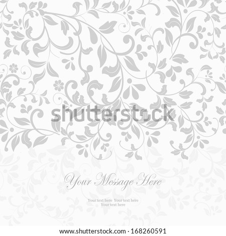Greeting Card with Flowers in tender style for weddings and other occasions