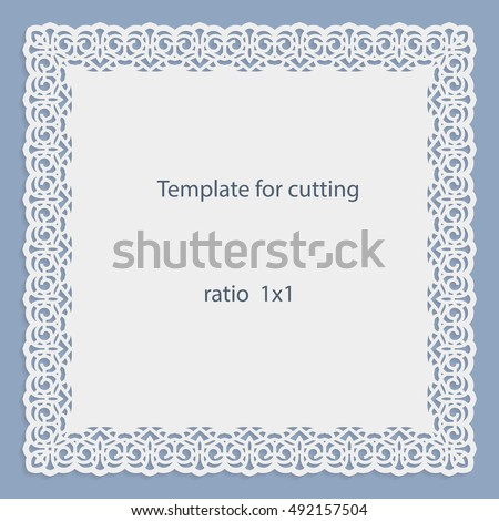Greeting Card Openwork Border Paper Doily Vector 492157504 – Border Paper Template