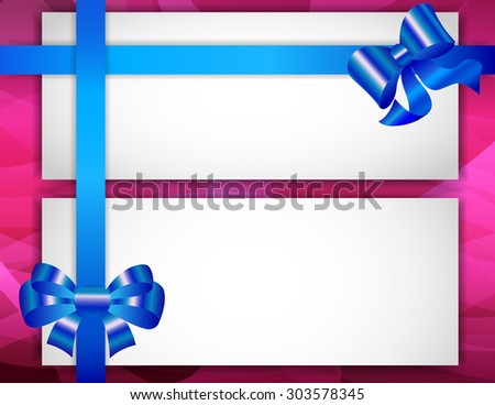 Greeting card with ribbons - stock vector