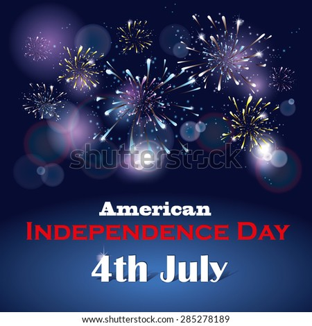 Greeting card with the US Independence Day - stock vector