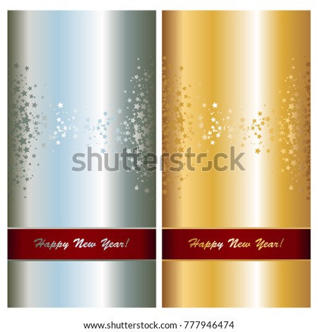 Greeting cards standard european size gold stock vector 777946474 greeting cards of standard european size gold and silver color invitation postcards with stars m4hsunfo