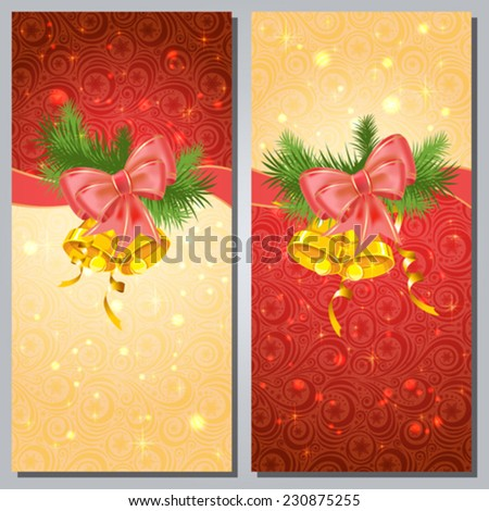 Greeting cards with white bows and copy space. Eps10 Vector - stock vector