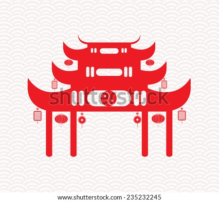 Greeting Chinese New Year - stock vector