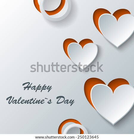 Greeting love card. Eps10 Vector illustration - stock vector