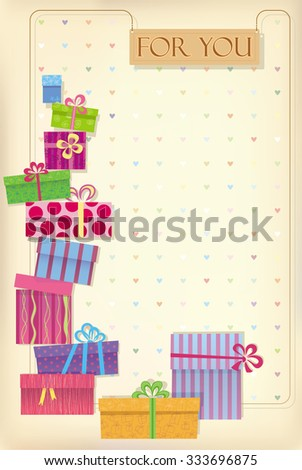 Greetings card for shopping lovers - stock vector