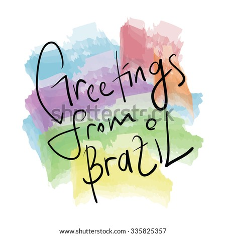 Greetings brazil design stock vector 335825357 shutterstock greetings from brazil design m4hsunfo