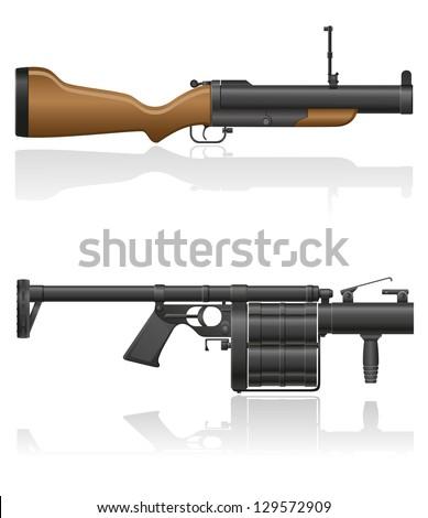 grenade-gun vector illustration isolated on white background - stock vector
