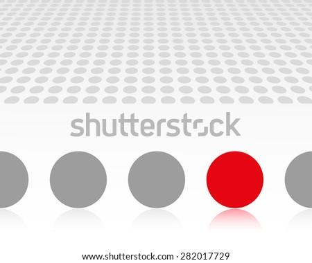 Grey and red vector spheres. Leadership concept.  - stock vector