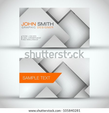 Grey and White Modern Business - Card Set | EPS10 Vector Design - stock vector