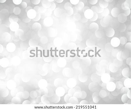 Grey Defocused Light, Flickering Lights, Vector abstract festive background with bokeh defocused lights.  - stock vector