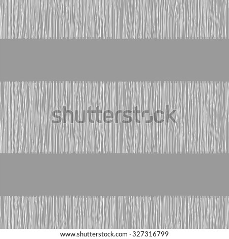 Grey fabric with stripes, burlap, quilting, imitation natural fibers hand art work - stock vector