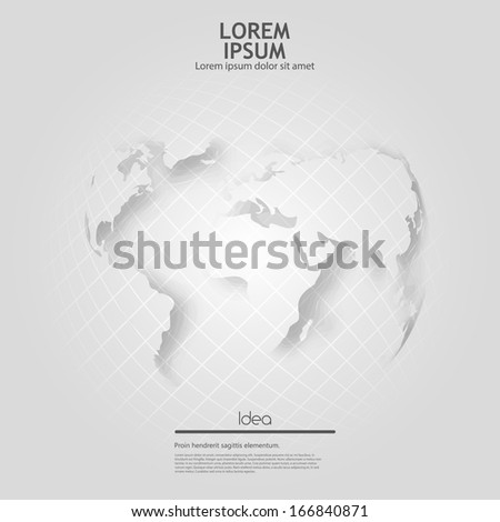 grey globe  - stock vector