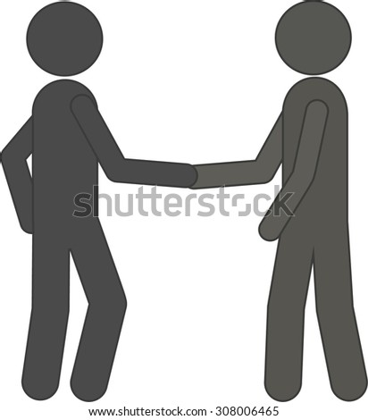 grey icon handshake. background for business and finance - stock vector