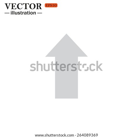 Grey icon on white background. arrow indicates the direction, vector illustration, EPS 10 - stock vector