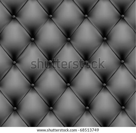 Grey leather background. Vector illustration. - stock vector