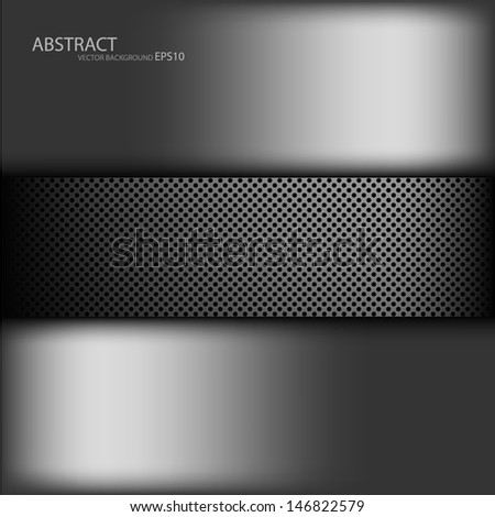 grey metal background texture pattern for text and message dimension overlap design eps10 - stock vector