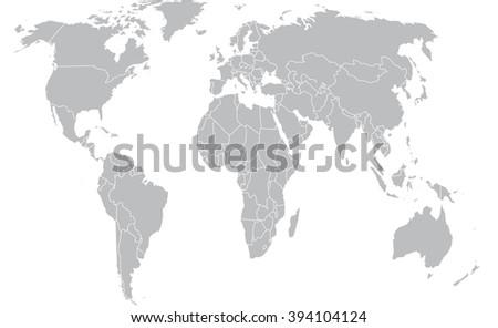 Grey political world map stock vector 2018 394104124 shutterstock grey political world map gumiabroncs Images