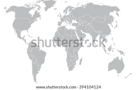 grey political world map stock vector 2018 394104124 shutterstock