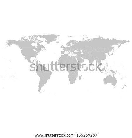Grey political world map illustration stock vector 155259287 grey political world map illustration sciox Gallery
