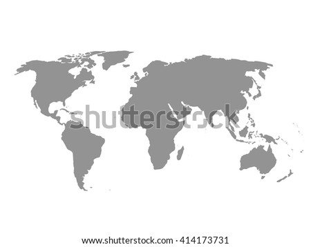 Grey political world map white background stock vector 414173731 grey political world map white background gumiabroncs Image collections